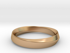 Mobius Ring - 180 _ Wide in Polished Bronze: 8 / 56.75