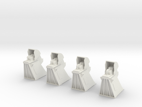 Apollo MLP Hold Downs 1:72 4 Pack in White Natural Versatile Plastic