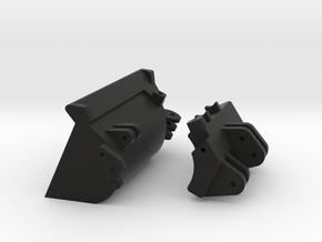 1:50 Backhoe RT Hand Side Tilt Bucket in Black Natural Versatile Plastic