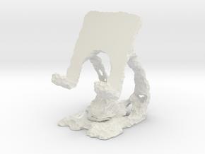 Trilobite Phone Stand - Walliserops Trifurcatus in White Natural Versatile Plastic
