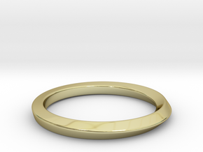 Mobius Ring - 90 in 18k Gold Plated Brass: 8 / 56.75