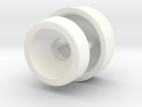 Lancia delta I middle console screw cap and seat in White Processed Versatile Plastic