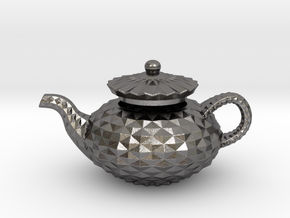 Deco Teapot in Polished Nickel Steel