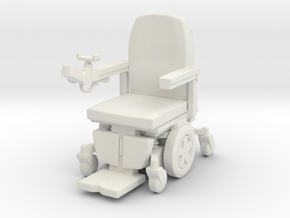 Wheelchair 03. 1:24 Scale in White Natural Versatile Plastic