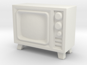 Old Television 1/24 in White Natural Versatile Plastic