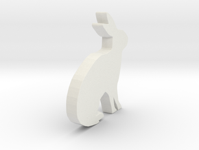 3D Printable Bunny - Easter Gift in White Natural Versatile Plastic