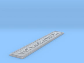 Nameplate USS Montana SSN-794 in Smoothest Fine Detail Plastic