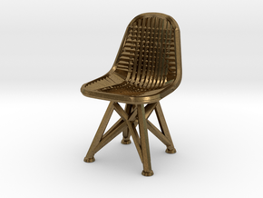 Wire Chair DKR-07-Big in Natural Bronze
