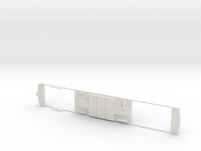 London Underground 1972 H0 Chassis B in White Natural Versatile Plastic