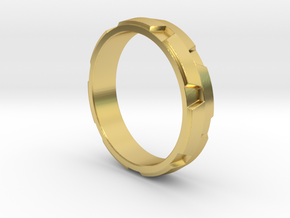 Ratchet Ring in Polished Brass: 8 / 56.75