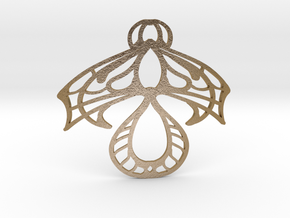 pendant_0026 in Polished Gold Steel