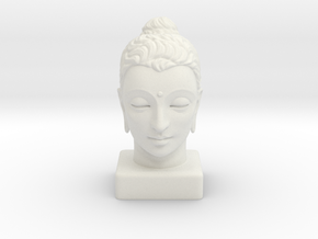 Gandhara Buddha 12 inches in White Natural Versatile Plastic