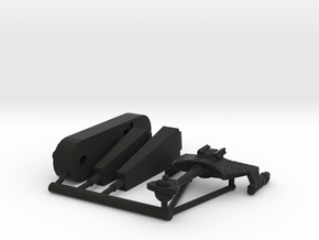 6k Klingon D7 refit in Black Natural Versatile Plastic