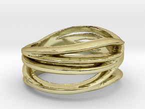 Awesome Ring   in 18k Gold Plated Brass