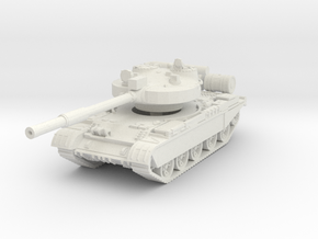 T-62 M Tank 1/56 in White Natural Versatile Plastic