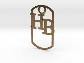 HB dog tag -- Hagerman Bobcats! in Natural Bronze