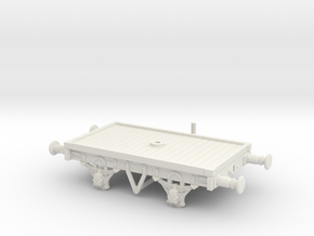 OO/HO Scale LBSCR 16' Bolster Wagon (Dia. 1617) in White Natural Versatile Plastic: 1:76 - OO