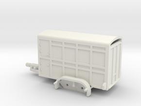 1041 Tieranhänger HO in White Natural Versatile Plastic: 1:87 - HO