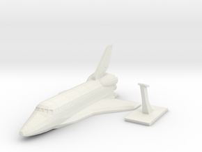 Space Shuttle  in White Natural Versatile Plastic