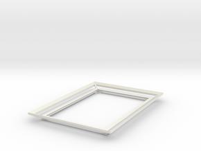 Volumetric photo frame 4x6 inch in White Natural Versatile Plastic