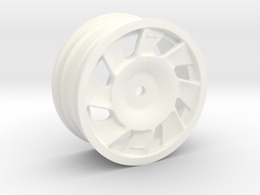 205 t16 EVO2 replica wheel Right in White Processed Versatile Plastic