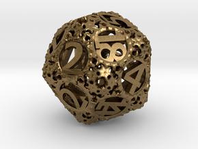 Static Gear (D20) in Natural Bronze