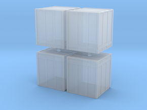 Large Shipping Crate (x4) 1/220 in Smooth Fine Detail Plastic
