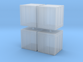 Large Shipping Crate (x4) 1/285 in Smooth Fine Detail Plastic