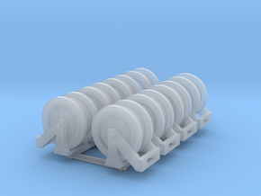 1:50 Hose reels pack of Eight V2 in Smooth Fine Detail Plastic