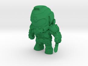 Doom Eternal Slayer Doomguy Figure in Green Processed Versatile Plastic