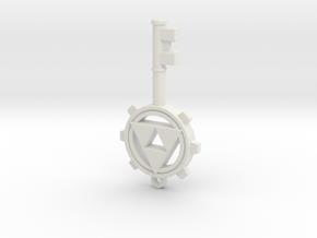 Dungeon Key in White Natural Versatile Plastic