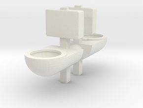 Prison Toilet (x2) 1/43 in White Natural Versatile Plastic