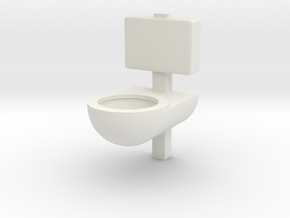 Prison Toilet 1/35 in White Natural Versatile Plastic