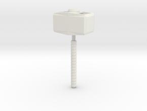 Mjolnir The Hammer in White Natural Versatile Plastic