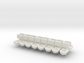 Prison Toilet (x16) 1/144 in White Natural Versatile Plastic