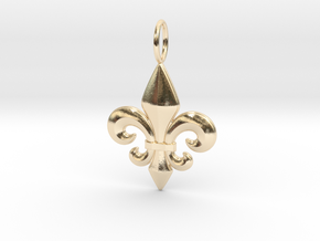 Fleur-De-Lis in 14K Yellow Gold