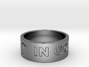 37 IN GOD WE TRUST V2 Ring Size 8.5 in Fine Detail Polished Silver