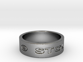 57 STOLEN V1 Ring Size 7 in Polished Silver