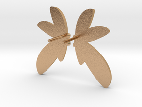 Abstract Fan Earrings V DESIGN LAB in Natural Bronze