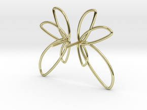 Abstract Fan Earrings (Wire) V DESIGN LAB in 18k Gold Plated Brass