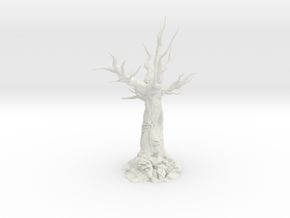 Creepy Forest Tree in White Natural Versatile Plastic