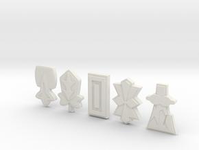 PKMN Masters Badges Bundle in White Natural Versatile Plastic