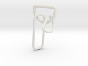 D-Link earring without post in White Natural Versatile Plastic
