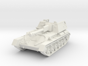 SU-76 M (early) 1/120 in White Natural Versatile Plastic
