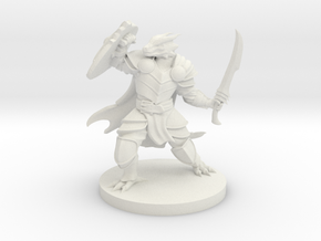 Dragonborn paladin mini in White Natural Versatile Plastic