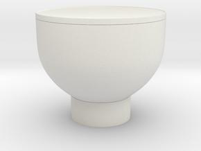 Miniature 1:48 Coffee Table in White Natural Versatile Plastic: 1:48 - O