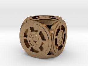 Circle Die in Natural Brass