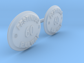 FRNP60 -Festiniog Railway Cast Number Plates '60'  in Smooth Fine Detail Plastic