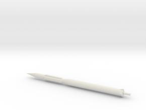 1/400 Scale Vanguard 1 TV-4 Rocket in White Natural Versatile Plastic