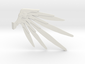 Smaller Techno Wings  in White Natural Versatile Plastic